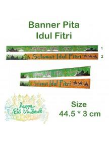 HO5466W - Banner Pita Bingkisan Lebaran Hiasan Idul Fitri 44.5 cm