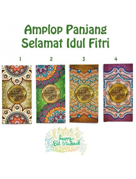 HO5471W - Premium Amplop/Angpao Panjang Idul Fitri isi 6 pc (Large)