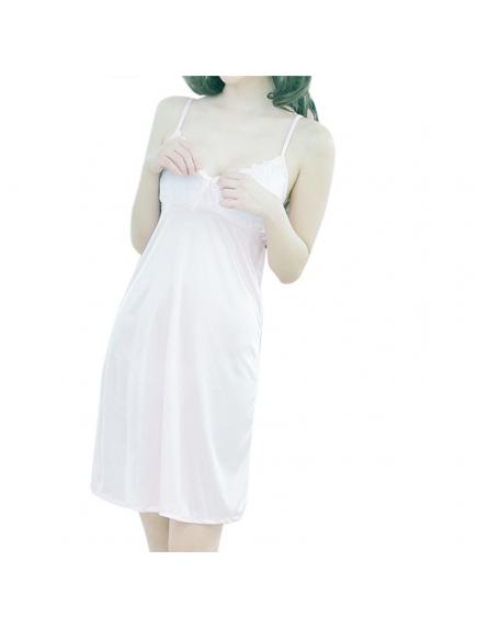 HO5481W - Sexy Lingerie Dress Baju Tidur Satin Babydoll Big Size (Set)