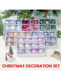 HO5490W - Christmas Tree Ornament Bola Natal Dekorasi Mix 12pcs