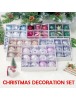 HO5490W - Christmas Tree Ornament Bola Natal Dekorasi Mix 12pcs