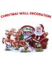 HO5495 - Dekorasi Natal Tempelan Dinding Merry Christmas Wall Sticker #1
