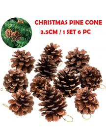 HO5512 - Dekorasi Pohon Natal Pine Cone Christmas Ornament Set (3.5cm)