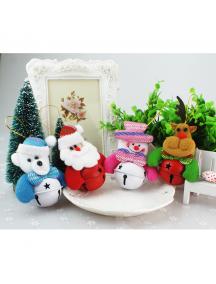 HO5529W - Christmas Ornament Santa Claus Doll Bell Dekorasi Pohon Natal