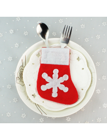 HO5530 - Christmas Decoration Cutlery Socks Natal Bungkus Sendok Makan
