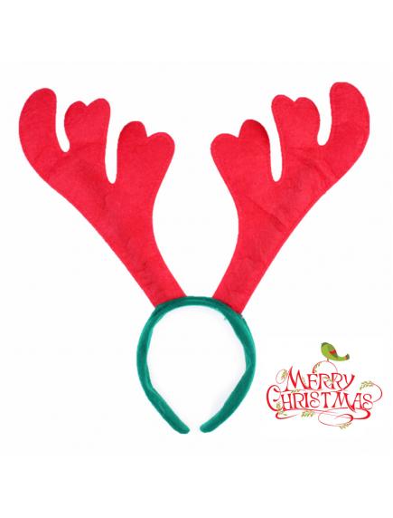 HO5533 - Aksesoris Bando Natal Tanduk Rusa Christmas