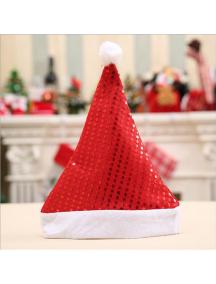 HO5539 - Aksesoris Topi Natal Sequin Christmas Santa Hat