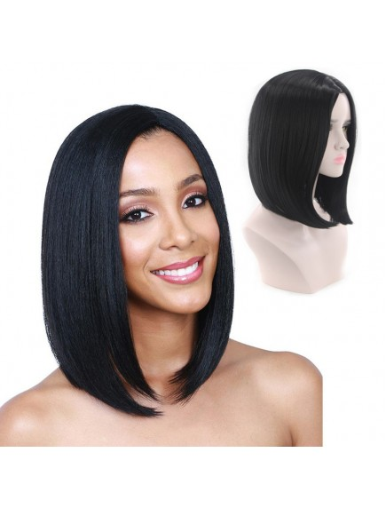 HO5540 - Hair Wig / Rambut Palsu Premium Long Bob Straight (Natural Black)