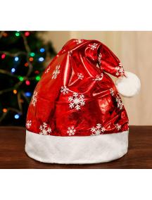 HO5540 - Aksesoris Topi Natal Shiny Snowflake Christmas Santa Hat