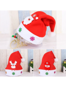 HO5542W - Aksesoris Topi Natal Cartoon Christmas Santa Hat