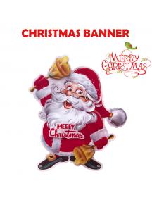 HO5546 - Dekorasi Natal Tempelan Dinding Santa 3D Wall Sticker