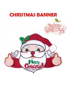 HO5547 - Dekorasi Natal Tempelan Dinding Santa Christmas 3D Wall Sticker