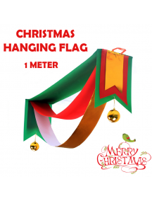 HO5549 - Christmas Decoration Hanging Banner Flag Natal (1 Meter)