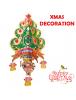 HO5553 - Dekorasi Natal Gantung  Santa Christmas 3D Wall Sticker