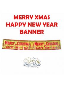 HO5554 - Dekorasi Natal & Tahun Baru Banner Rumbai Christmast New Year