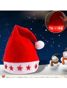 HO5556 - Aksesoris Topi Natal Five Star Led Christmas Hat