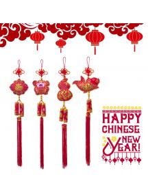 HO5567 - Hiasan Dekorasi Imlek Chinese New Year Gantungan Cracker Trio (Random Motif)