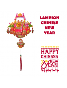 HO5571 - Hiasan Dekorasi Imlek Chinese New Year Gantungan Lampion Flower 3D