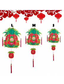 HO5574 - Hiasan Dekorasi Imlek Chinese New Year Gantungan Lampion Hologram 3D (Small)