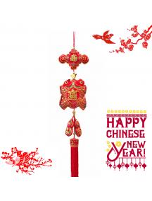 HO5576- Hiasan Dekorasi Imlek Chinese New Year Gantungan Prosperity Koi