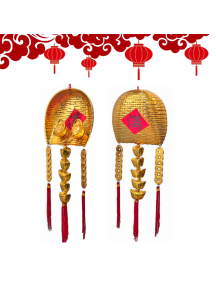 HO5581 - Hiasan Dekorasi Imlek Chinese New Year Golden Money Scoop
