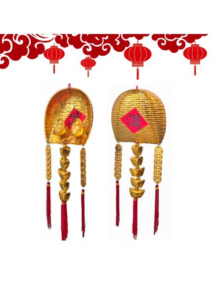HO5581 - Hiasan Dekorasi Imlek Chinese New Year Golden Money Scoop