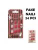 HO5583 - Polkadot Fake Nails / Kuku Palsu 24 pcs