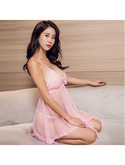 HO5585W - Sexy Lingerie Nightgown Temptation Lace