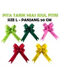 HO5596W - Pita Tarik Hias / Pita Kado Serut Hias Idul Fitri Lebaran 50cm (10pc/Pak)