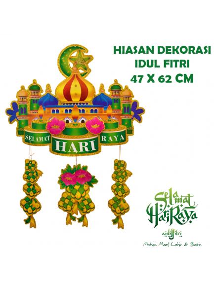 HO5602 - Ornament/Hiasan Lebaran Gantung Selamat Idul Fitri 3D