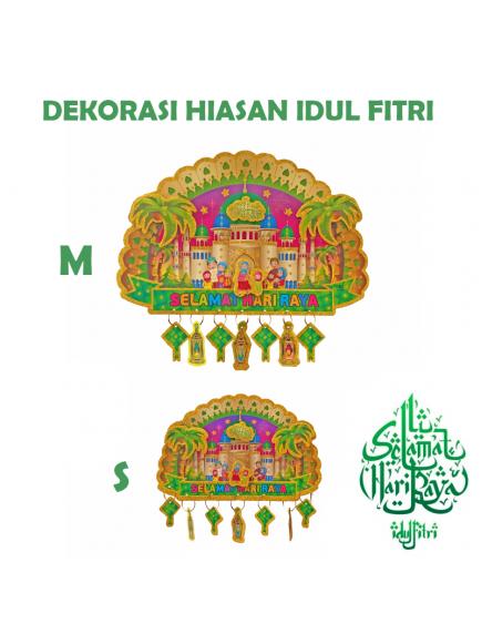 HO5606 - Hiasan Lebaran Dekorasi Selamat Hari Raya Idul Fitri Glitter (Size S)