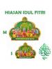 HO5609 - Hiasan Lebaran Dekorasi Maaf Lahir Batin Glitter (Size M)