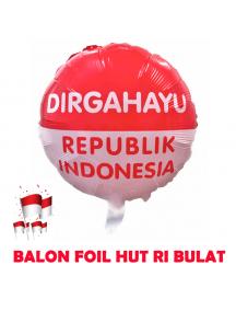 HO5613 - Dekorasi 17 Agustus HUT RI Balon Foil Bulat Besar 40cm