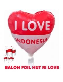HO5614 - Dekorasi 17 Agustus HUT RI Balon Foil Love Besar 40cm