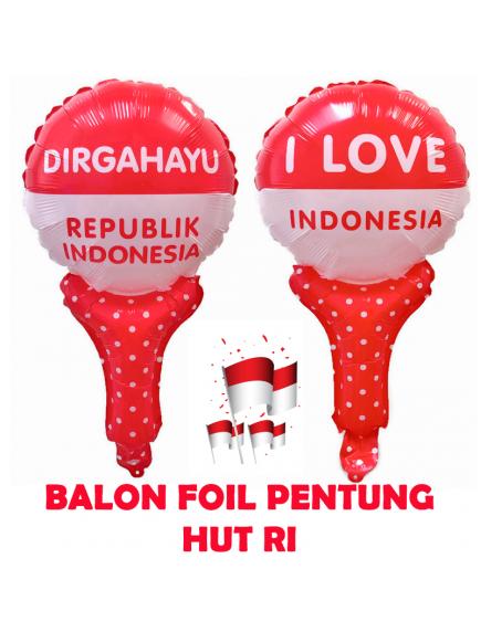 HO5615 - Dekorasi 17 Agustus HUT RI Balon Foil Pentung