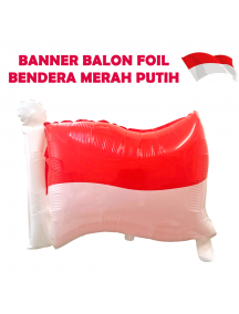 HO5617 - Dekorasi 17 Agustus HUT RI Balon Foil Bendera Merah Putih