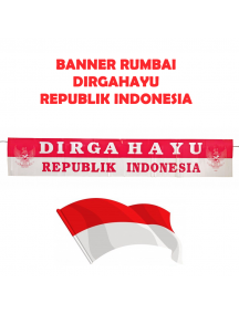 HO5618 - Dekorasi 17 Agustus HUT RI Banner Rumbai Dirgahayu Republik Indonesia