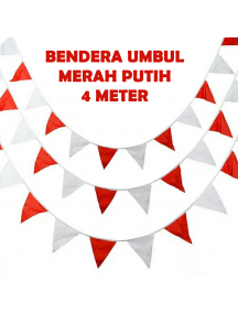 HO5620 - Dekorasi 17 Agustus HUT RI Bendera Umbul-Umbul Merah Putih Segitiga