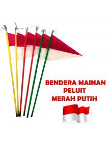 HO5621 - Dekorasi 17 Agustus HUT RI Bendera Pawai Mainan Peluit Merah Putih Segitiga
