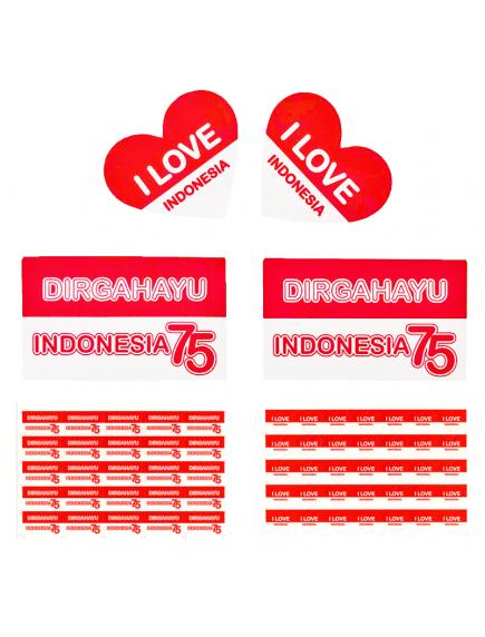HO5622W - Dekorasi 17 Agustus HUT RI Sticker Bendera / Sticker Pipi Per Lembar