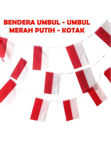 HO5623 - Dekorasi 17 Agustus HUT RI Sticker Bendera Umbul Merah Putih Kotak
