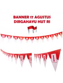 HO5626 - Dekorasi 17 Agustus HUT RI Sticker Banner Flag Dirgahayu RI Segitiga