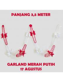 HO5627 - Dekorasi 17 Agustus HUT RI Garland Tarik Merah Putih Model 1