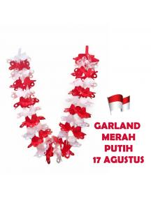 HO5628 - Dekorasi 17 Agustus HUT RI Garland Tarik Merah Putih Model 2
