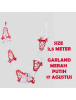 HO5630 - Dekorasi 17 Agustus HUT RI Garland Tarik Merah Putih Model 4