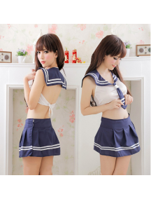 HO5644 - Sexy Lingerie Kostum Seragam Sekolah / Uniform Sexy Set