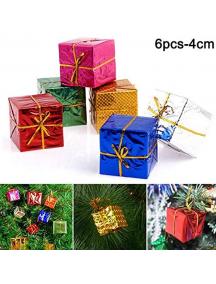 HO5656 - Ornament Dekorasi Pohon Natal Gift Box Kotak Medium 4 cm (6pc)