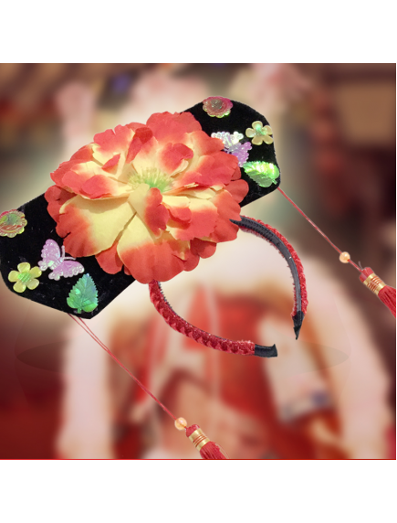 HO5662 - Bando Imlek Anak Kostum Putri Huan Zhu (Random Color)