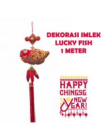 HO5663 - Hiasan Dekorasi Imlek Chinese New Year Gantungan Lucky Fish (100 cm)