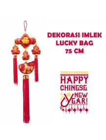 HO5665 - Hiasan Dekorasi Imlek Chinese New Year Gantungan Sequin Fish (100 cm)